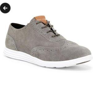 Cole Haan Grey Suede Shoes